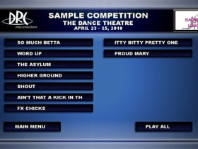 Sample Competition Menu