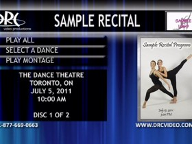 Recital Sample Menu